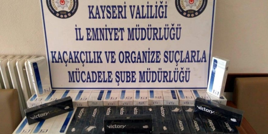 Kayseri'de kaçak sigara operasyonu