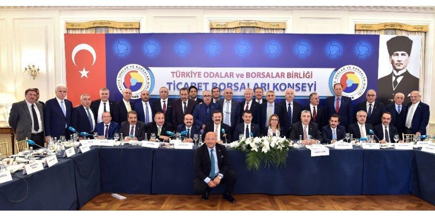 TOBB'un düzenlediği, ticaret borsaları konsey toplantısı yapıldı