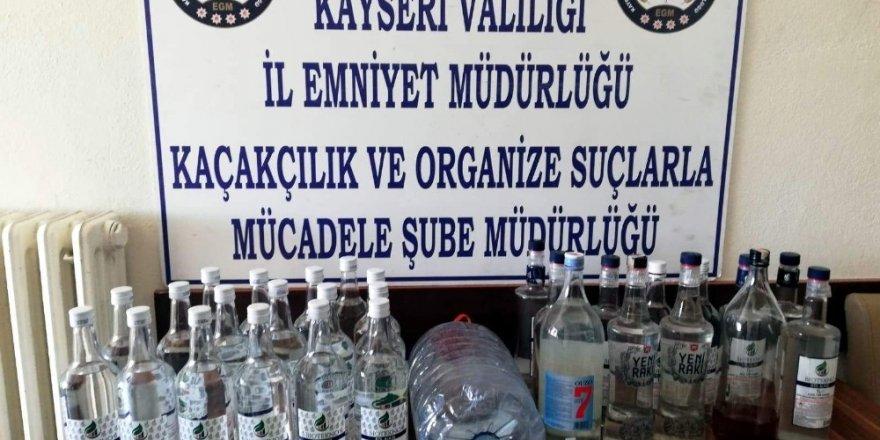 Kayseri'de kaçak alkol operasyonu