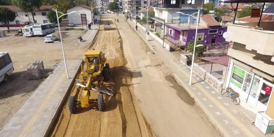 Sarıgöl Şehit Ali Suyabatmaz Caddesi tamamlanıyor