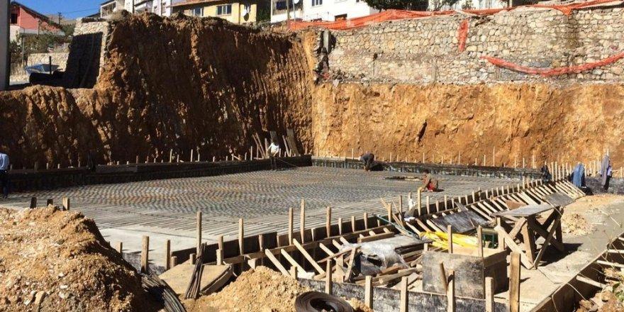 Çelikhan'ın çok amaçlı kültür merkezi inşaatı başladı