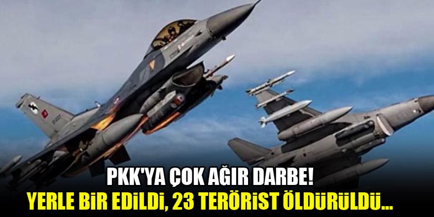 PKK'ya çok ağır darbe! Yerle bir edildi, 23 terörist öldürüldü...