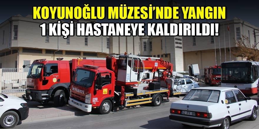 Konya'da müzede yangın