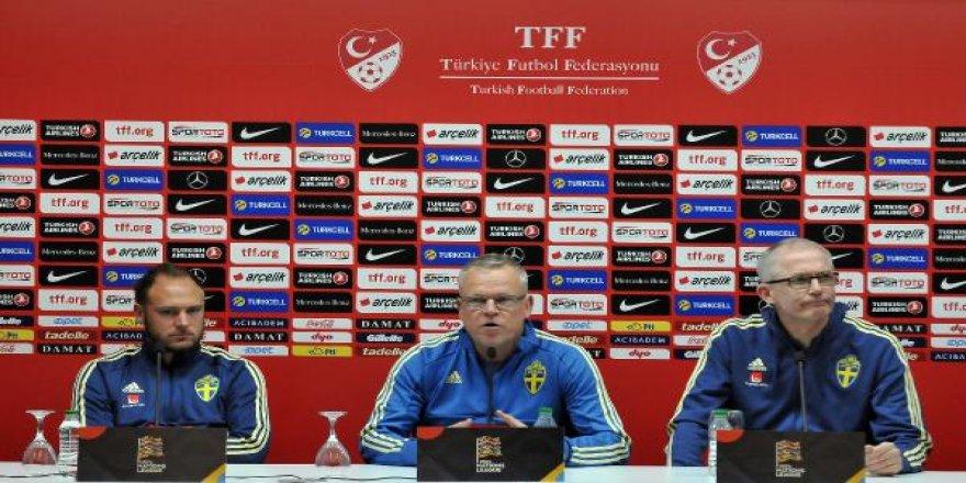 """İsveç Teknik Direktörü Andersson: """"Türk milli takımı iyi bir takım"""""""
