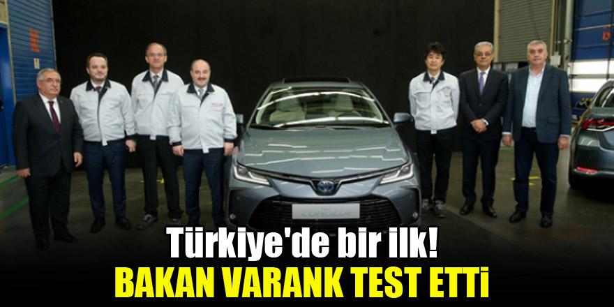 Türkiye'de bir ilk! Bakan Varank test etti