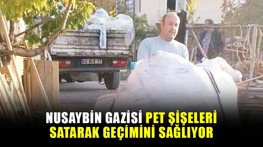 Nusaybin gazisi pet şişeleri satarak geçimini sağlıyor
