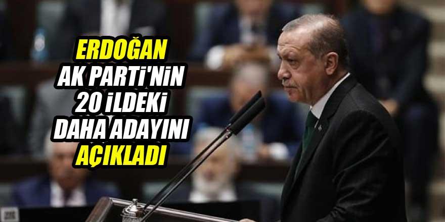 Cumhurbaşkanı Erdoğan AK Parti'nin 20 ildeki daha adayını açıkladı