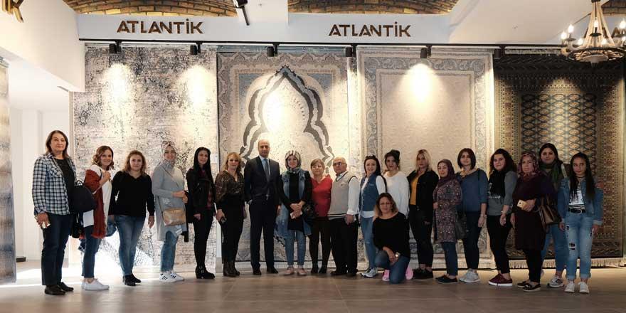 AK Parti Nazilli Kadın Kolları Başkanı'ndan Atlantik Halı fabrikasına ziyaret