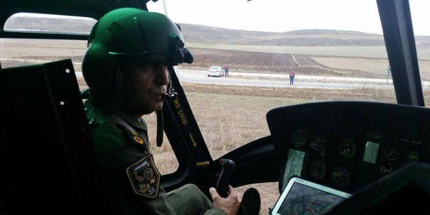 Jandarmanın havadan trafik denetimleri sünüyor