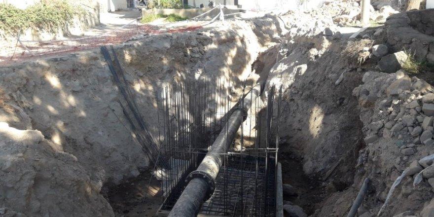 Ortakent'in içme suyu hatları devreye alınıyor