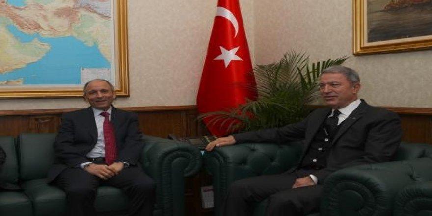 Libya'nın Ankara Büyükelçisi Abduqader, Bakan Akar'ı ziyaret etti