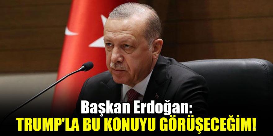 Başkan Erdoğan: Trump'la bu konuyu görüşeceğim!