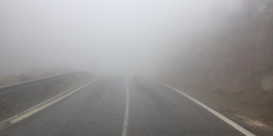 Sincik ilçesinde sis etkili oldu