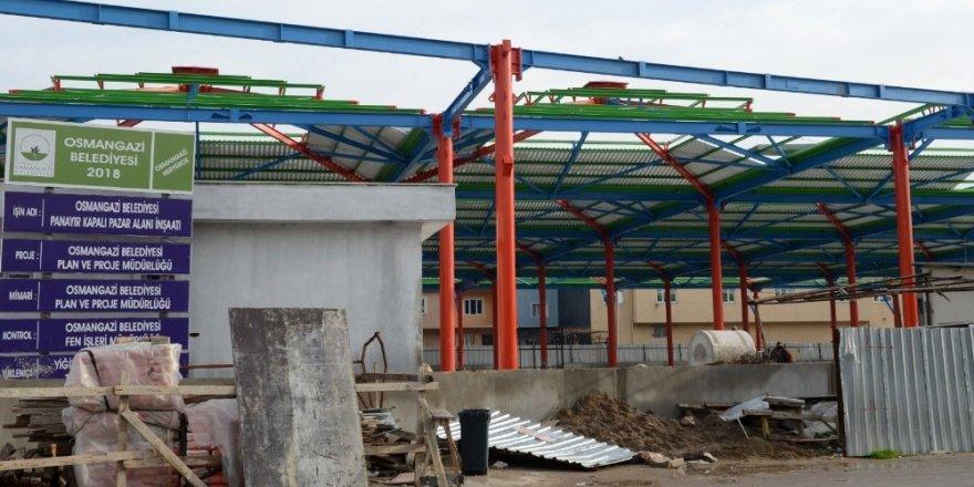 Osmangazi'de pazarlar modernleşiyor