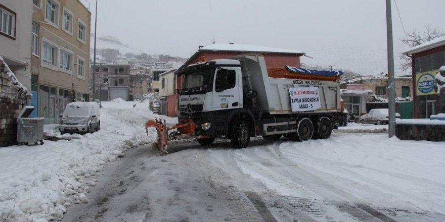 İncesu Belediyesinde karla mücadele çalışmaları başladı