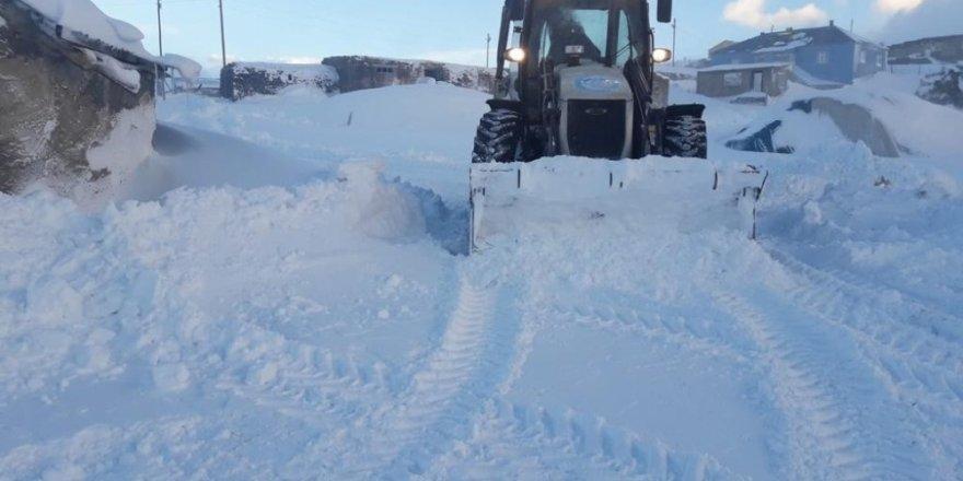 Çaldıran'da karla mücadele çalışması