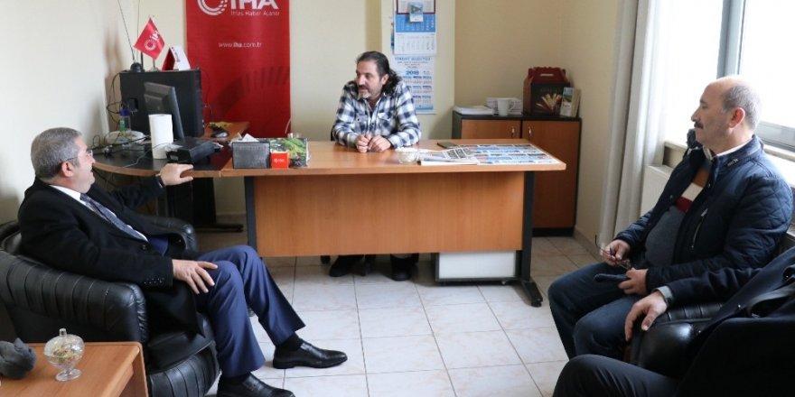 Başkan Adayı Takva'dan İHA'ya ziyaret