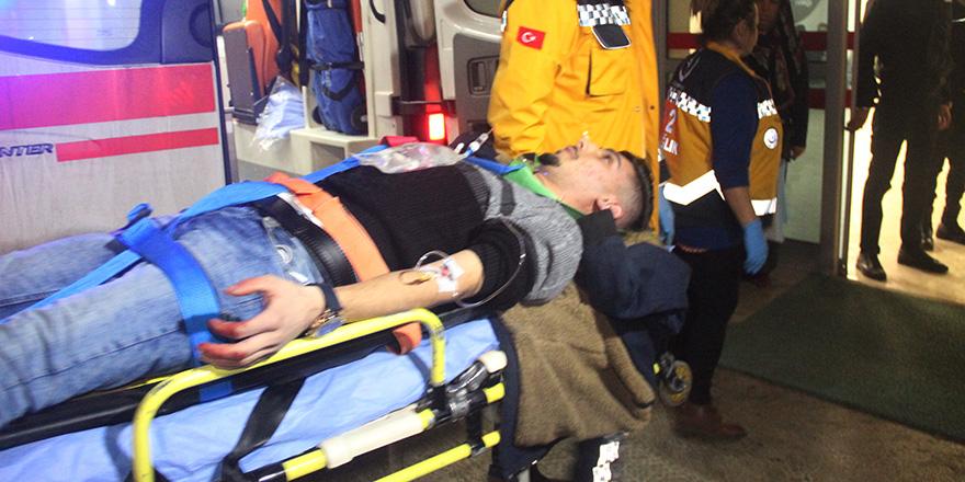 Konya'da minibüsten ateş açıldı, 2 kişi yaralandı