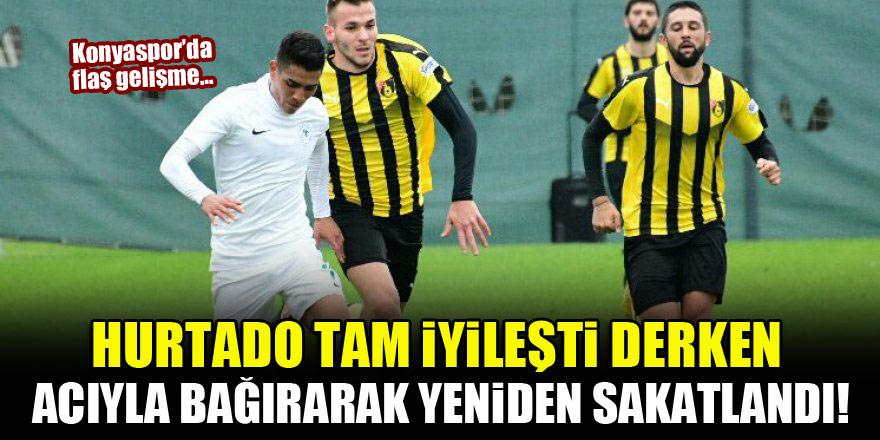 Konyaspor'da flaş gelişme...Hurtado tam iyileşti derken yeniden sakatlandı!