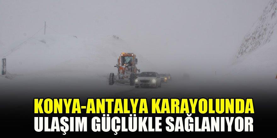 Konya-Antalya karayolunda ulaşım güçlükle sağlanıyor