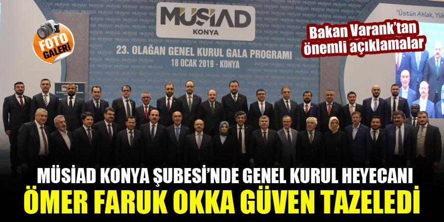 MÜSİAD Konya Şubesi'nde genel kurul heyecanı...Bakan Varank'tan önemli açıklamalar...