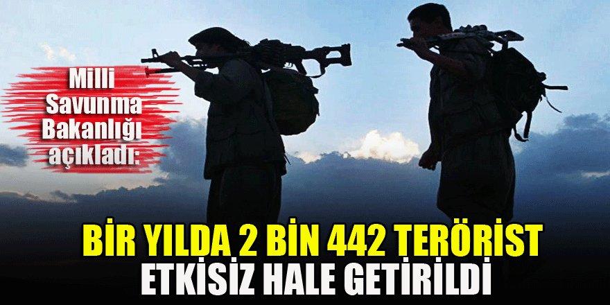 MSB: Bir yılda 2 bin 442 terörist etkisiz hale getirildi