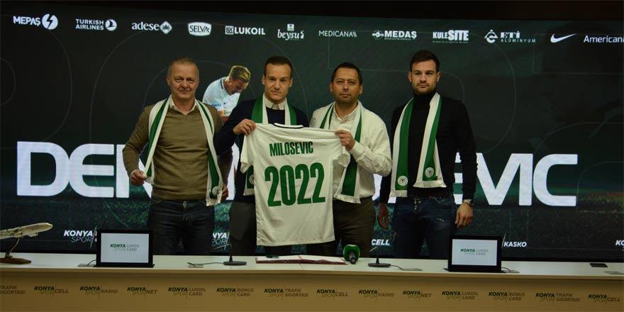 Deni Milosevic 3 yıl daha Atiker Konyaspor'da