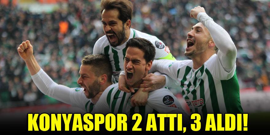 Konyaspor 2 attı, 3 aldı!