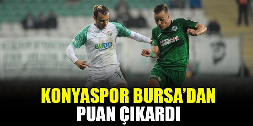 Konyaspor, Bursa deplasmanından puan çıkardı