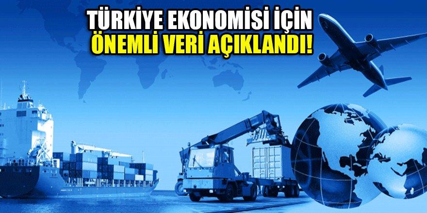 Türkiye ekonomisi için önemli veri açıklandı!