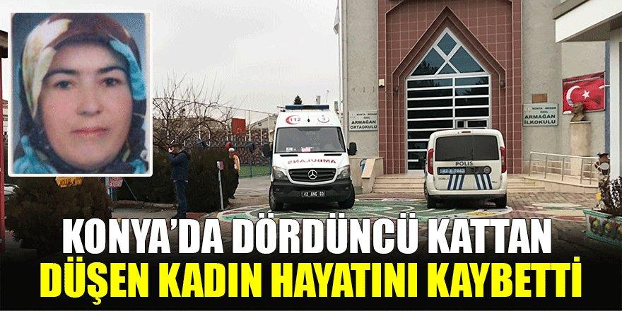 Konya'da dördüncü kattan düşen kadın hayatını kaybetti