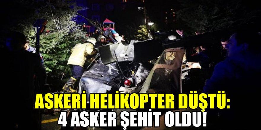 Askeri helikopter düştü: 4 asker şehit oldu!