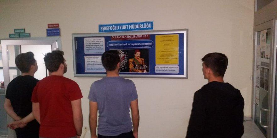 Öğrenci yurdunda Sultan 2. Abdülhamid Hanı anma köşesi açıldı