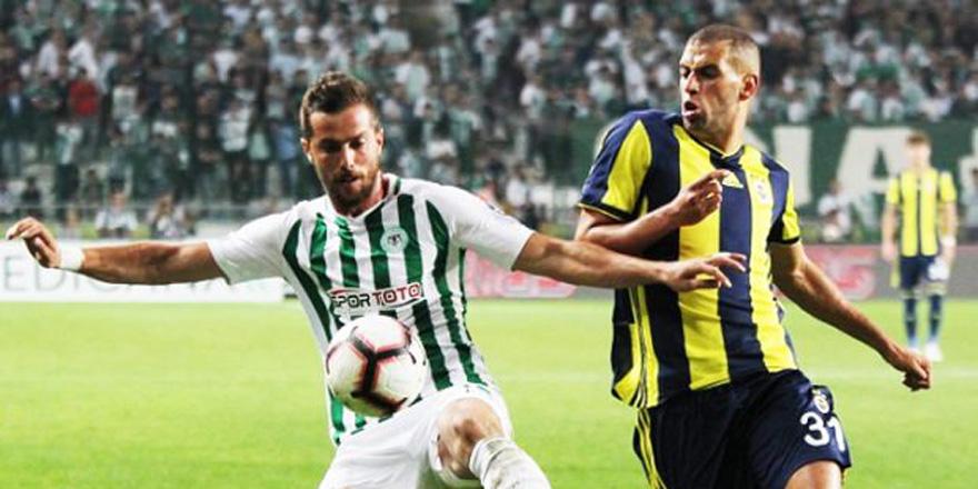Fenerbahçe - Konyaspor maçında ilk 11'ler belli oldu!