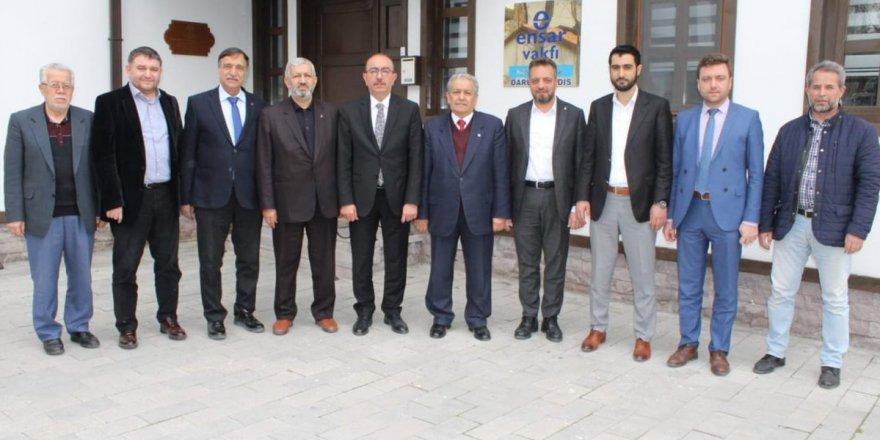 Mustafa Kavuş'tan Ensar Vakfı'na ziyaret