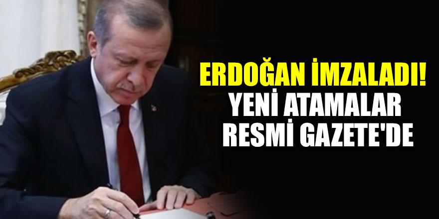 Erdoğan imzaladı! Yeni atamalar Resmi Gazete'de