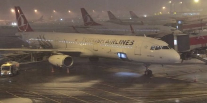 Uçuşlara kar engeli; 4 sefer iptal