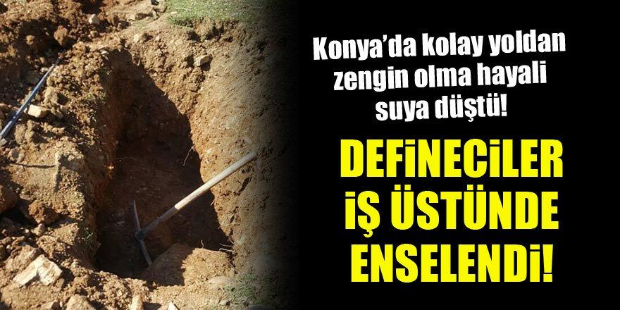 Konya'da definecilerin hayali suya düştü! Suçüstü yakalandılar