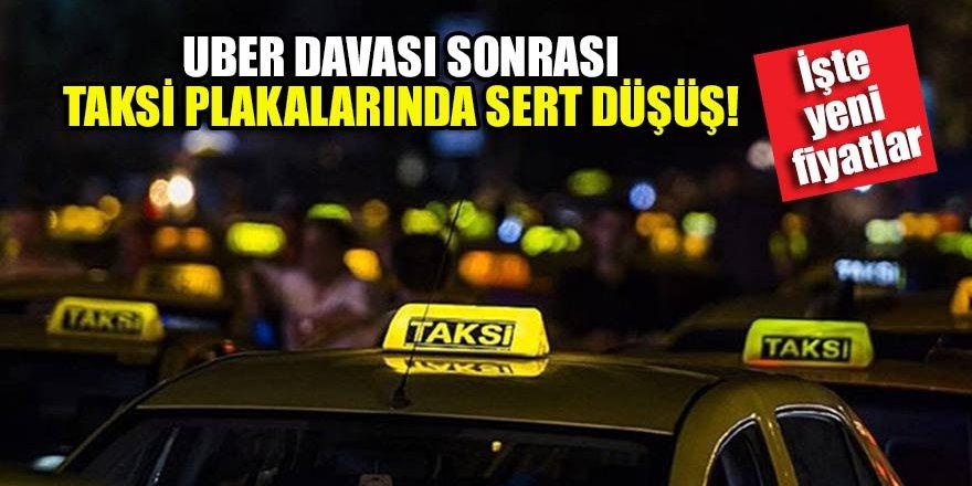 Uber davası sonrası taksi plakalarında sert düşüş!