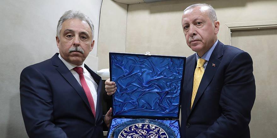 Erdoğan, Vali Toprak ve Başkan Altay'ı kabul etti