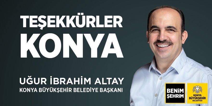 Uğur İbrahim Altay'dan teşekkür
