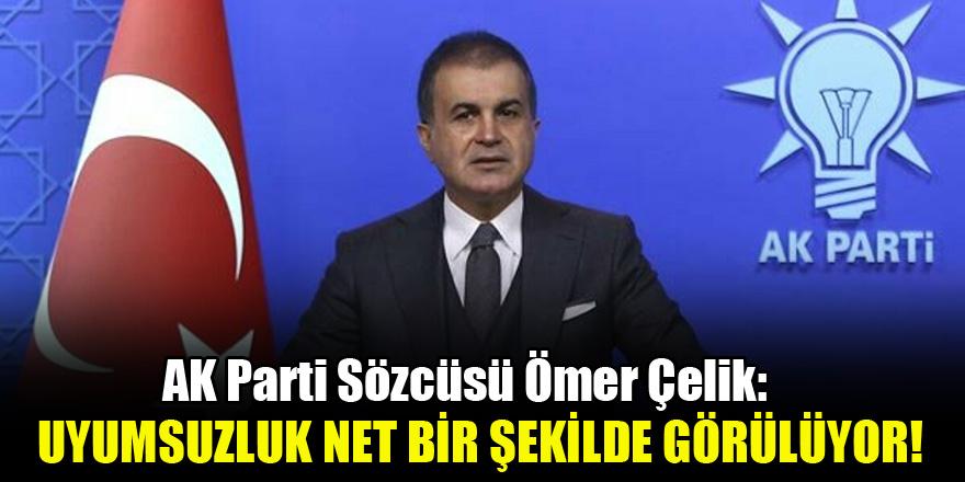 AK Parti Sözcüsü Çelik: Uyumsuzluk net bir şekilde görülüyor!