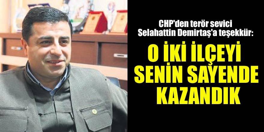 CHP'den  Selahattin Demirtaş'a teşekkür…