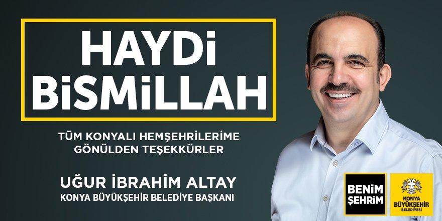 Uğur İbrahim Altay: Haydi Bismillah