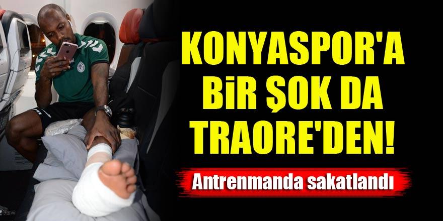Konyaspor'a bir şok da Traore'den! Antrenmanda sakatlandı