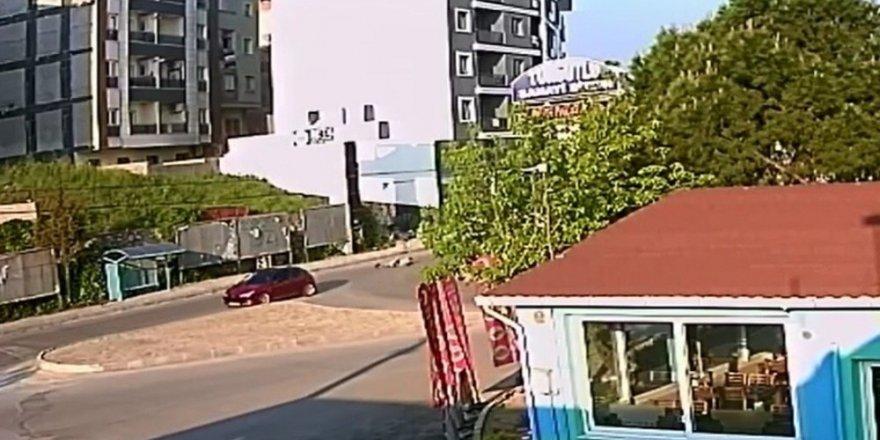 Ölümlü kaza güvenlik kamerasına yansıdı