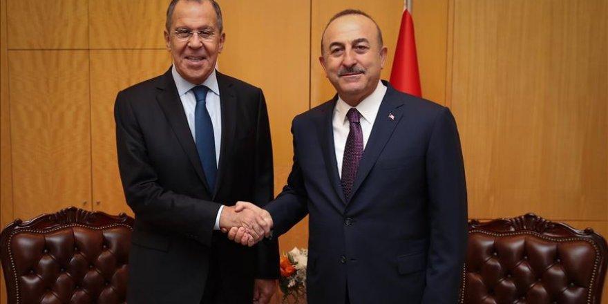 Dışişleri Bakanı Çavuşoğlu, Rus mevkidaşı Lavrov ile Libya'yı görüştü