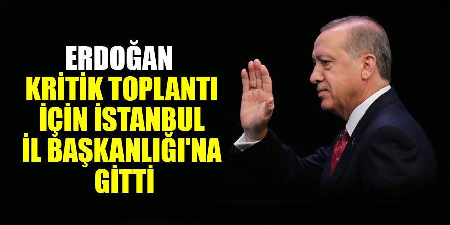 Cumhurbaşkanı Erdoğan kritik toplantı için İstanbul İl Başkanlığı'nda…