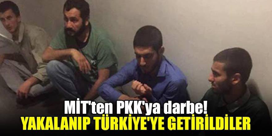 MİT'ten PKK'ya darbe! Yakalanıp Türkiye'ye getirildiler