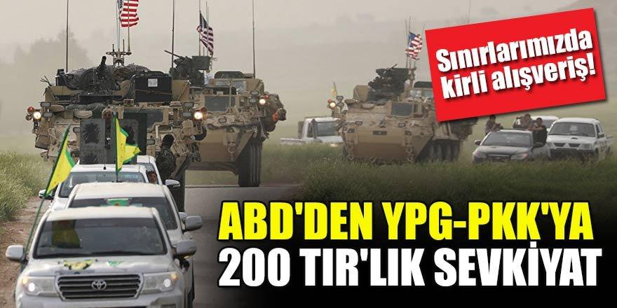 Sınırlarımızda kirli alışveriş! ABD'den YPG-PKK'ya 200 TIR'lık sevkiyat